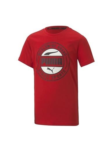 Puma Puma 58127911 Alpha Summer Tee Kırmızı Erkek Çocuk T-Shirt Kırmızı